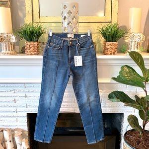 FRAME Le Nouveau Straight Leg High Rise Crop Jeans